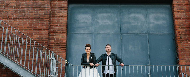 Couple mariage rock