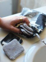 cotons disques démaquillants lavable zéro déchet couture tie and dye